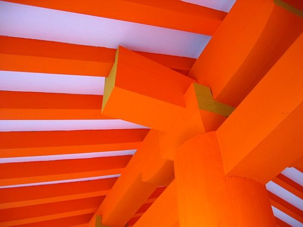 Orange Temple Ceiling by Josh Michels