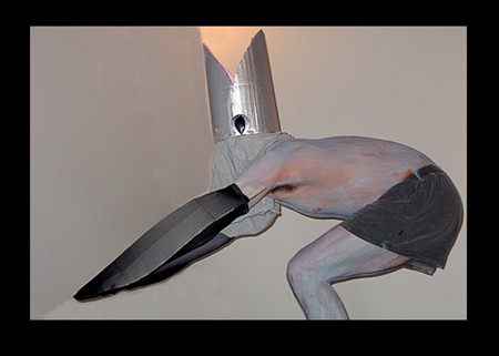 Maskmaking Student as a whale